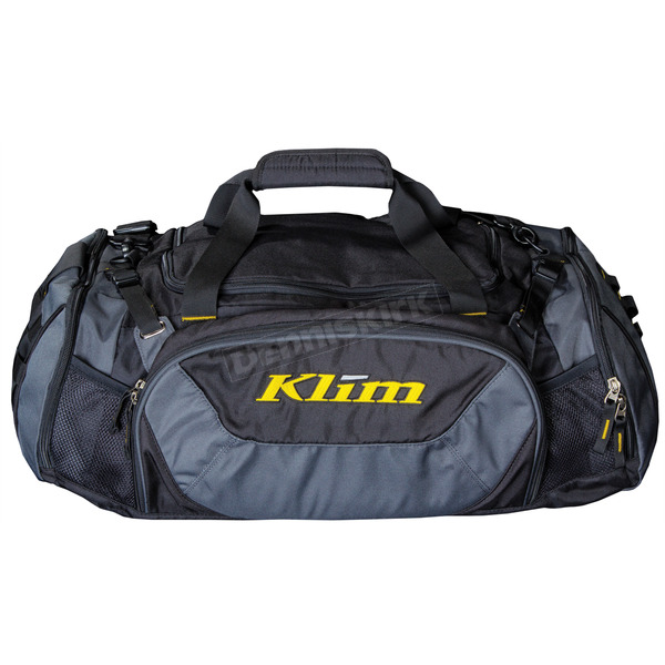 Klim Black/Gray Deluxe Duffel Bag - 4014-000-000-000
