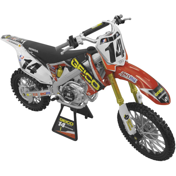 New Ray Toys Geico Powersports Kevin Windham CRF450R 1:12 Scale Die-Cast Model - 57567