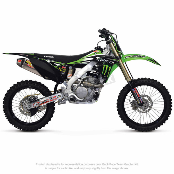 Pro Circuit 2014 Monster Energy/Pro Circuit Team Graphic Kit w/Seat Cover - DK14250T-09