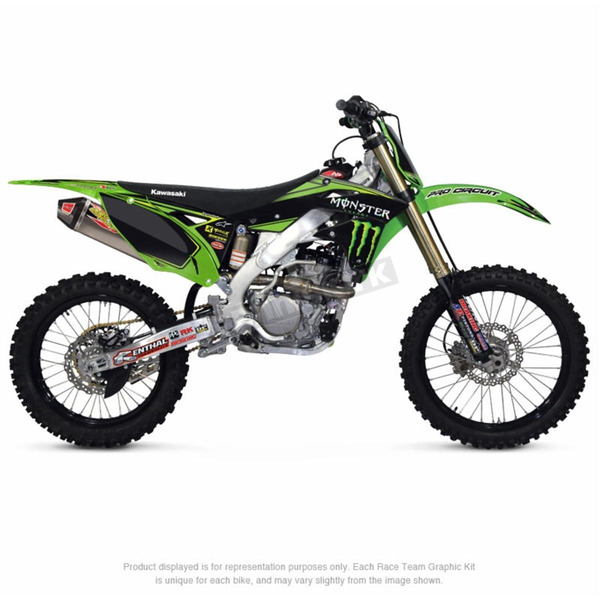 Pro Circuit Team Monster Energy Graphic Kit w/Seat Cover - DK15450T