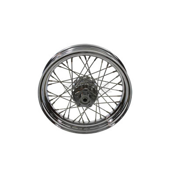 Chrome 16 in. x 3 in. 40 Spoke Wheel Assembly for Single Disc - 52-0179