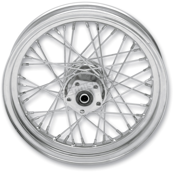 Drag Specialties Chrome Rear 16 x 3.5 40-Spoke Laced Wheel Assembly  - 0204-0371