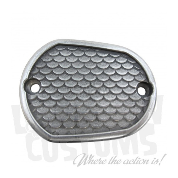 Lowbrow Customs Semi-Polished Fish Scale Front Master Cylinder Cover - 4047