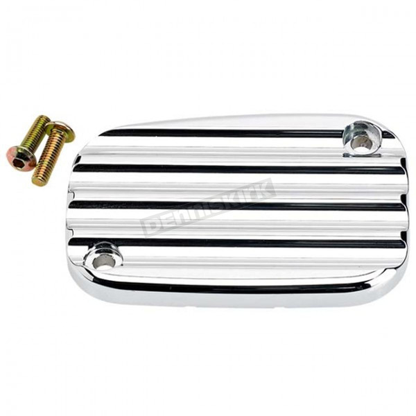 Joker Machine Chrome Finned Front Master Cylinder Cover - 08-002C