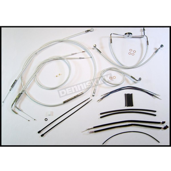 Magnum Custom Sterling Chromite II Designer Series Handlebar Installation Kit for Use w/18 in. - 20 in. Ape Hangers (Non-ABS)  - 387203
