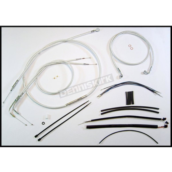 Magnum Custom Sterling Chromite II Designer Series Handlebar Installation Kit for Use w/15 in. - 17 in. Ape Hangers (Non-ABS) - 387272