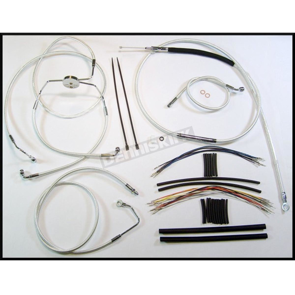 Magnum Custom Sterling Chromite II Designer Series Handlebar Installation Kit for Use w/15 in. - 17 in. Ape Hangers (w/ABS) - 387312