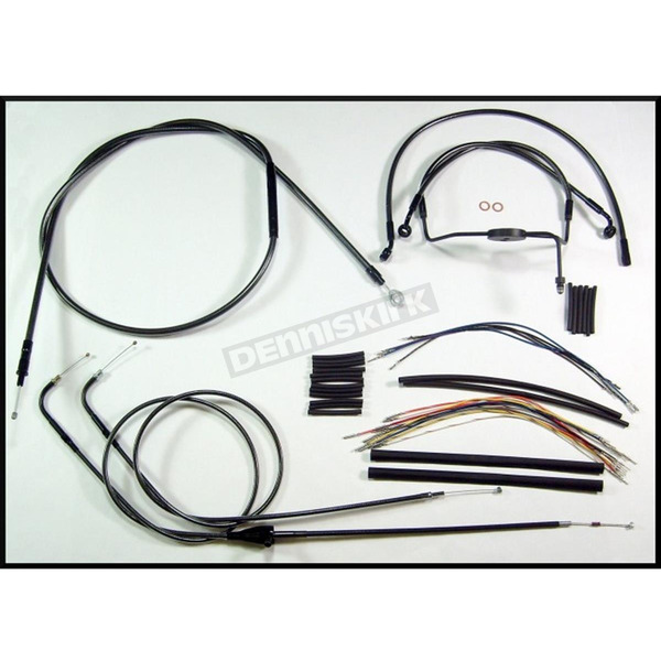Magnum Black Pearl Designer Series Handlebar Installation Kit for Use w/18 in. - 20 in. Ape Hangers - 487293