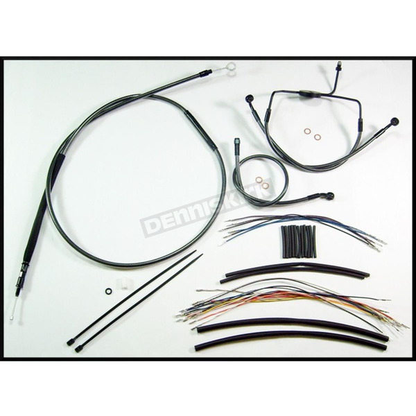 Magnum Black Pearl Designer Series Handlebar Installation Kit for Use w/18 in. - 20 in. Ape Hangers (Non-ABS) - 487303