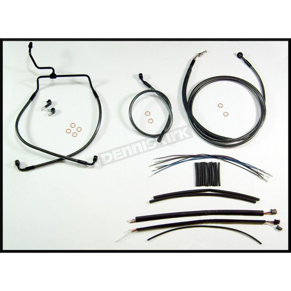 Magnum Black Pearl Designer Series Handlebar Installation Kit for Use w/15 in. - 17 in. Ape Hangers  (Non-ABS) - 487332