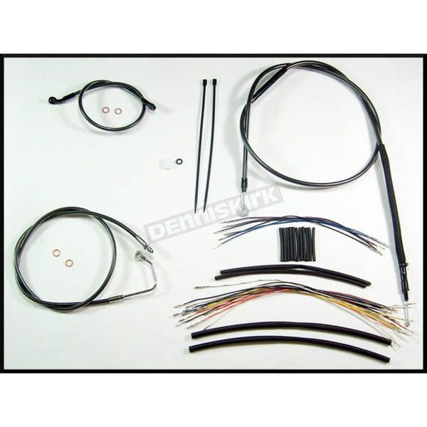 Magnum Black Pearl Designer Series Handlebar Installation Kit for Use w/12 in. - 14 in. Ape Hangers (w/ABS) - 487361
