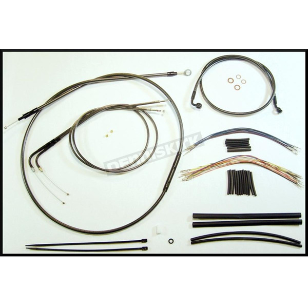 Magnum Black Pearl Designer Series Handlebar Installation Kit for Use w/18 in. - 20 in. Ape Hangers - 487383