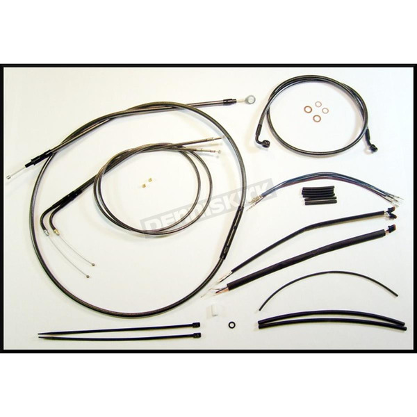 Magnum Black Pearl Designer Series Handlebar Installation Kit for Use w/12 in. - 14 in. Ape Hangers - 487391