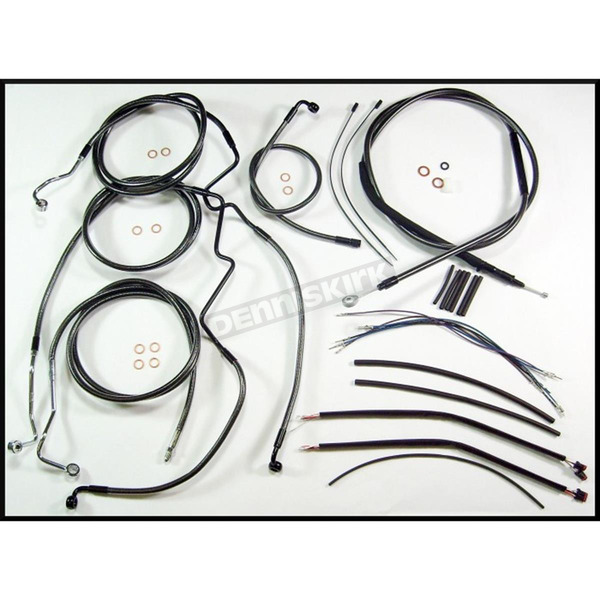 Magnum Black Pearl Designer Series Handlebar Installation Kit for Use w/12 in. - 14 in. Ape Hangers (w/ABS) - 487481