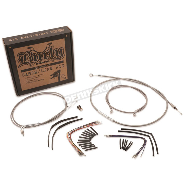 Burly Brand Stainless Steel 14 in. Handlebar Installation Kit w/ABS - B30-1127