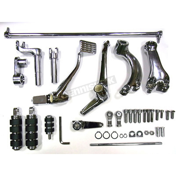 V-Twin Manufacturing Chrome Forward Control Kit - 2 in. Extended - 22-0799