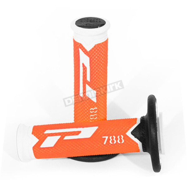 Pro Grip White/Orange 788 Extra Slim Triple Density Grips - 788WHFLORBK