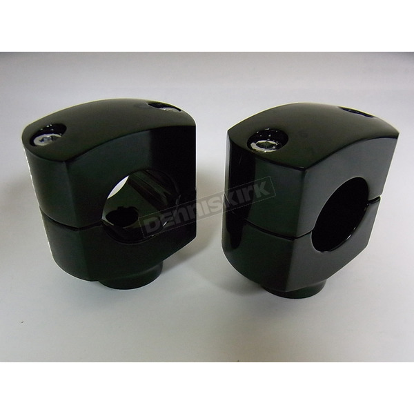 V-Twin Manufacturing Black 1 1/2 in. Short Risers - 25-2221