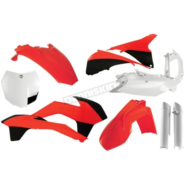 Acerbis Full Orange/White Replacement Plastics Kit - 2403104893