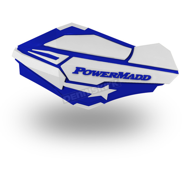 PowerMadd Blue/White Sentinel Handguards - 34421