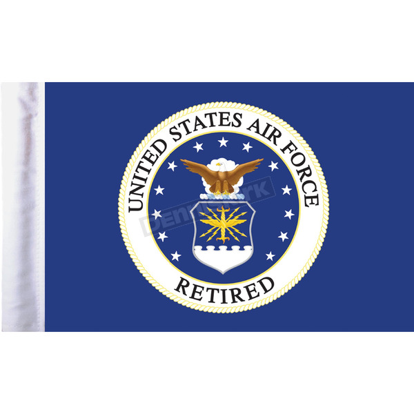 Pro Pad 6 in. x 9 in. Air Force Retired Motorcycle Flag - FLG-RETAF