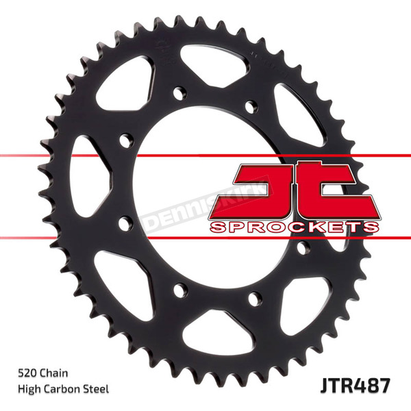 JT Sprockets Rear 520 45 Tooth C49 High Carbon Steel Sprocket - JTR487.45