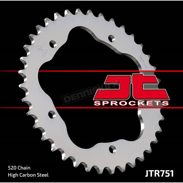 JT Sprockets Rear 520 38 Tooth C49 High Carbon Steel Sprocket - JTR751.38
