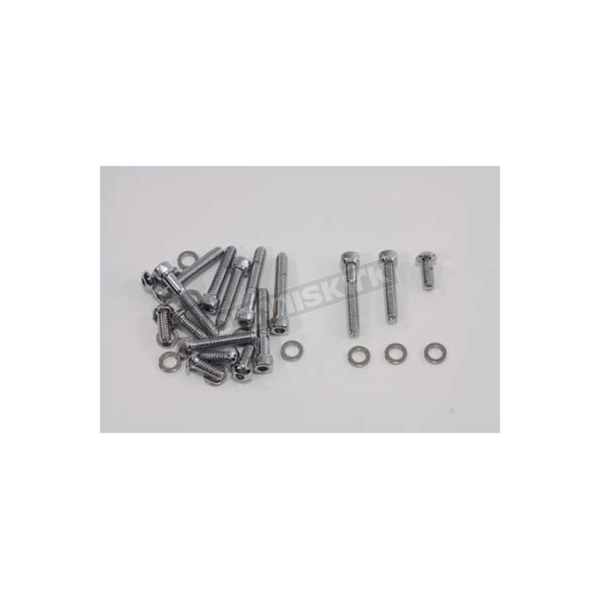 V-Twin Manufacturing Chrome Primary Cover Allen Screw Kit - 8916-17