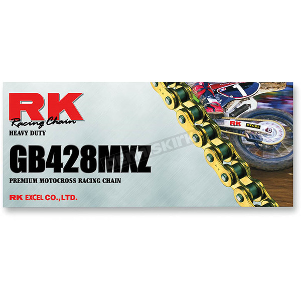 RK Gold 428 MXZ4 Heavy Duty Chain - GB428MXZ-134