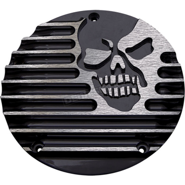 Covingtons Customs Black Machine Head 5-Hole Derby Cover - C1076-B