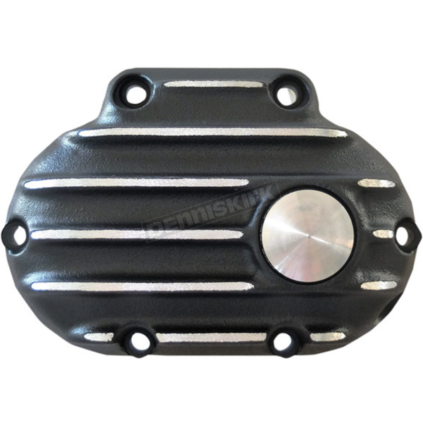 Speed Merchant Black/Natural Snatch Ribbed Transmission Side Cover - GB6TC/R/BC