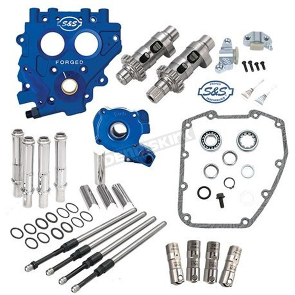 S&S Cycle 551CE Easy Start Chain Drive Cam Chest Kit w/Plate - 330-0542