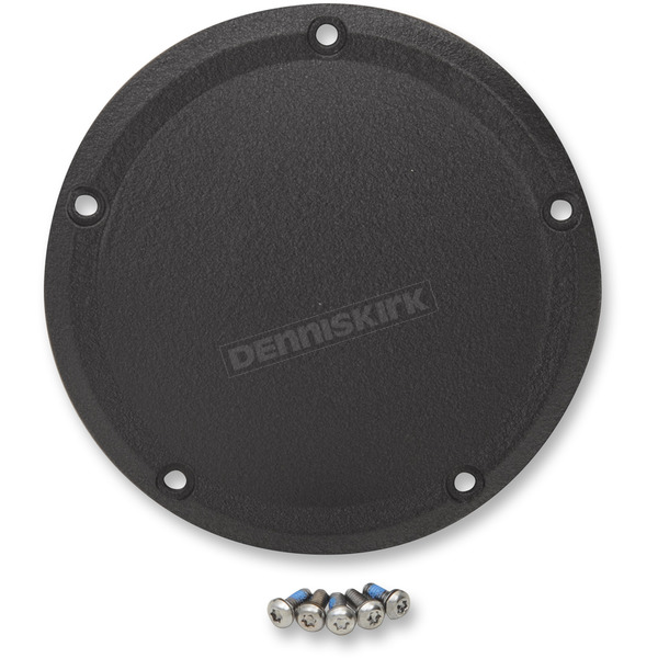 Drag Specialties Wrinkle Black Derby Cover (5-Hole) - 1107-0558