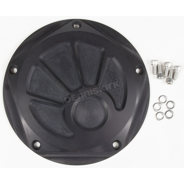 Rooke Customs Black Derby Cover - R-C1601-TB