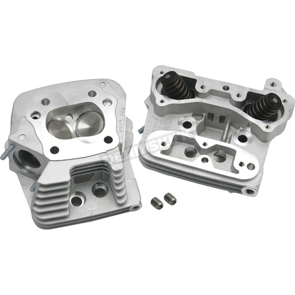 S&S Cycle Natural Aluminum Standard Compression Cylinder Heads - 106-6059