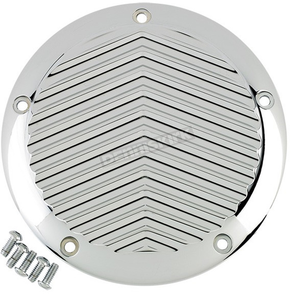 Joker Machine Chrome 5-Hole V Fin Derby Cover - 06-960-4C