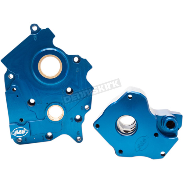 Blue Water-Cooled M8 Cam Plate and Oil Pump Kit - 310-0997A