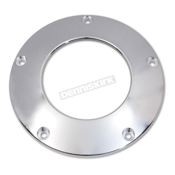 Chrome 5-Hole Billet C-Thru Derby Cover - 42-0240