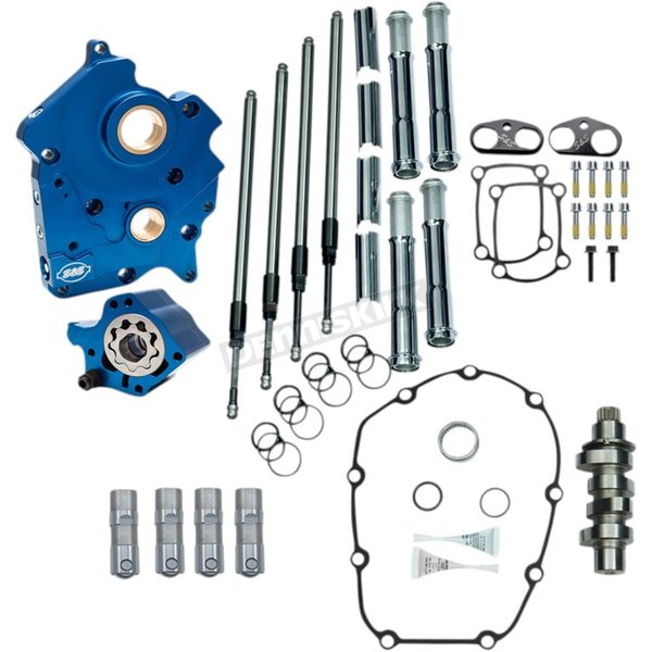 Chain Drive 465C Cam Chest Kit with Chrome Pushrod Tubes for Oil Cooled M8 Models - 310-1003A
