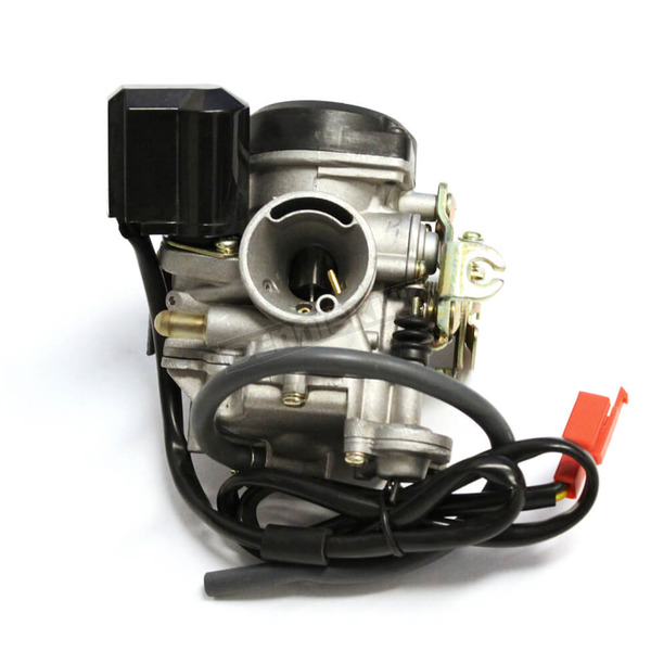 Chicago Scooter Company Carburetor w/Accelerator Pump for GY6 4-Stroke or QMB139 50cc Engines - 1300-1115