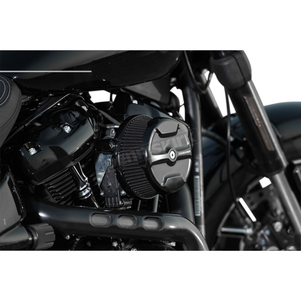 Arlen Ness Black Big Sucker Stage 1 Knuckle Air Filter Kit w/Standard Air Filter & Billet Cover - 18-342