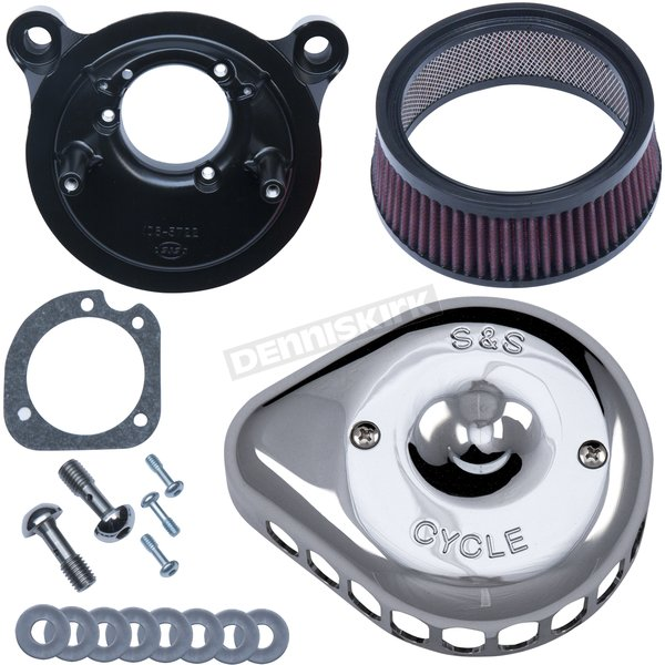 Chrome Mini Teardrop Stealth Air Cleaner for Stock CV Carb - 170-0449