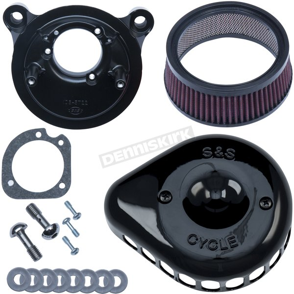 Gloss Black Mini Teardrop Stealth Air Cleaner for Stock CV Carb - 170-0450