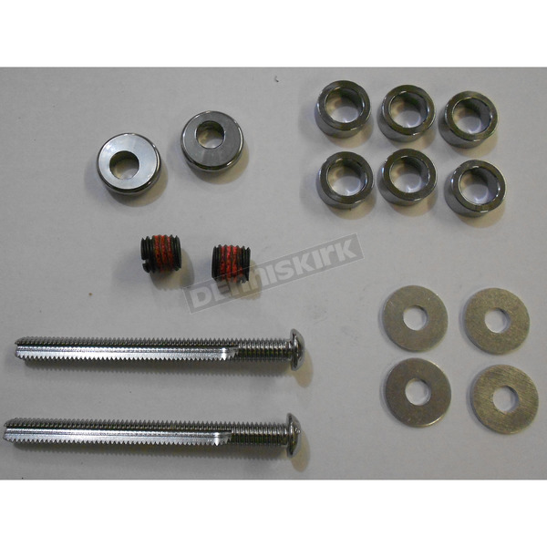 Custom Cycle Engineering Buttonhead 3 1/4 in. Cut-To Length Chrome Breather Bolt Kit - 5/16 in.-18 - DM-6000K