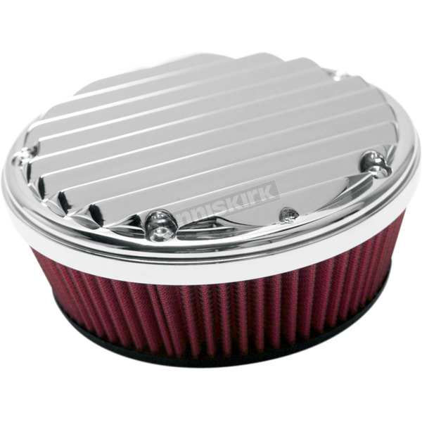 Arlen Ness Chrome Big Sucker Derby Cover Air Filter Kit w/Pre-Oiled Standard Filter - 18-382