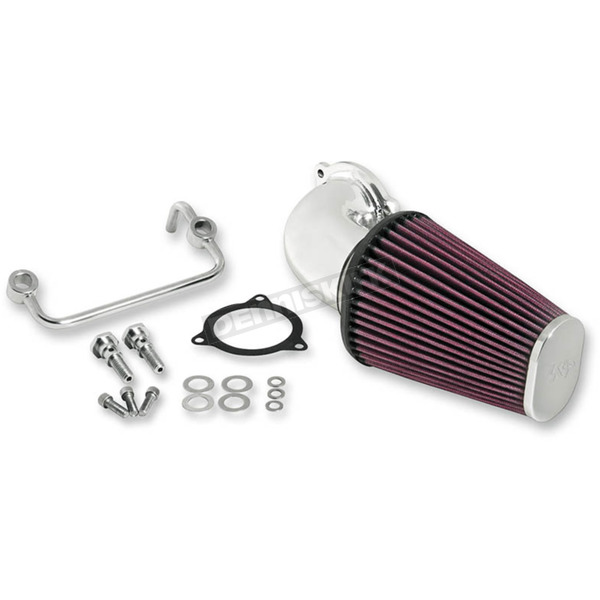 K & N Polished Air Charger Performance Intake System - 57-1122P