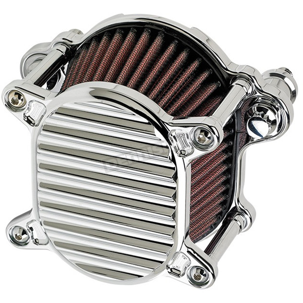 Joker Machine Chrome Finned Air Cleaner - 02-166-3