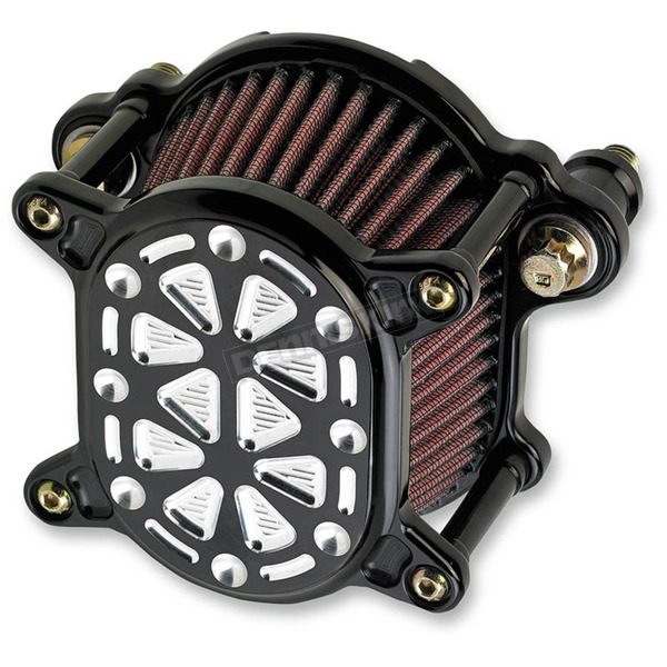 Joker Machine Black/Silver Omega Tech Air Cleaner Assembly - 10-244-2