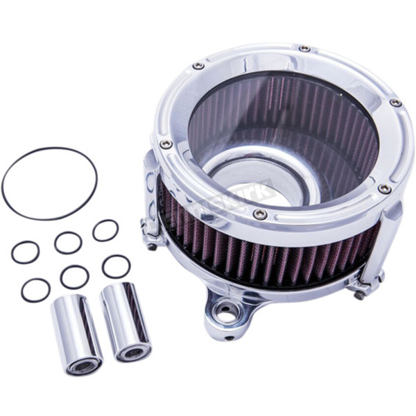 Trask Polished Assault Charge High-Flow Air Cleaner - TM-1021P