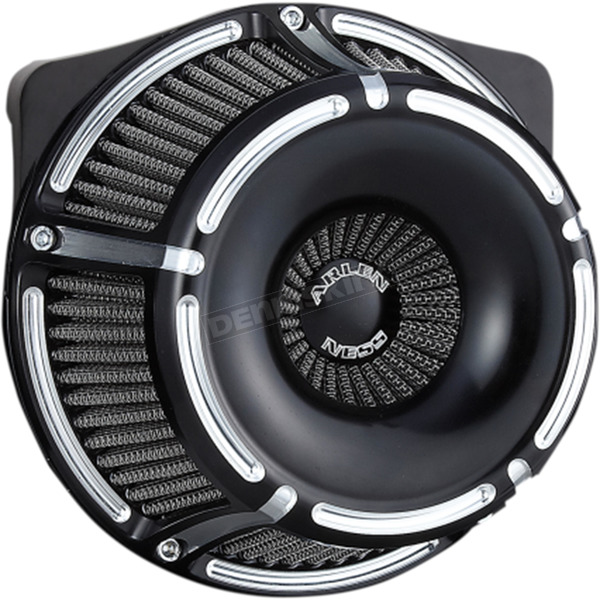 Arlen Ness Black Inverted Series Slot Track Air Cleaner - 18-915